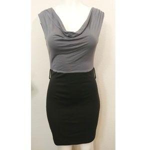 imagenation cowl neck two tone midi dress size L